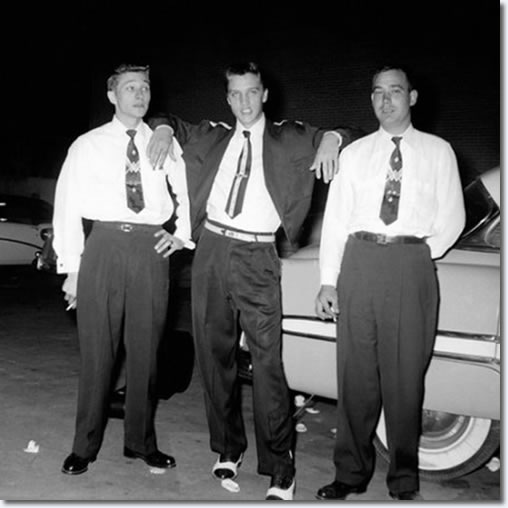 Scotty Moore, Elvis Presley and Bill Black - September 9, 1954