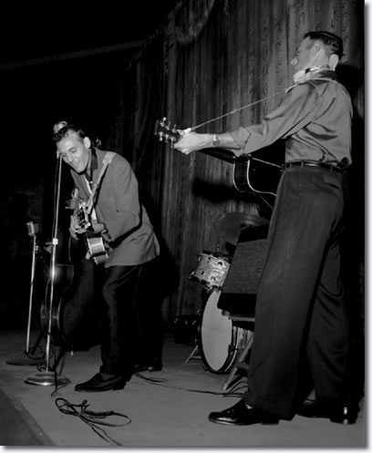 Carl Perkins performs at Overton Park Shell on the night of June 1, 1956.