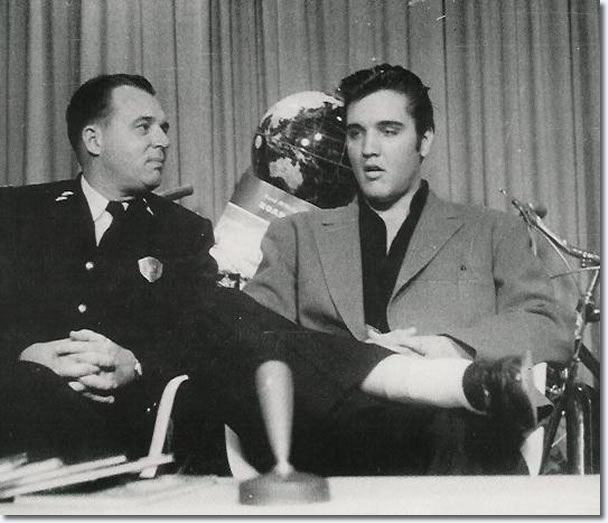 Photo of Elvis is from Memphis Sept 20, 1957 WKNO-TV 'Safety Hit Parade' - Note the world globe behind Elvis, showing Australia
