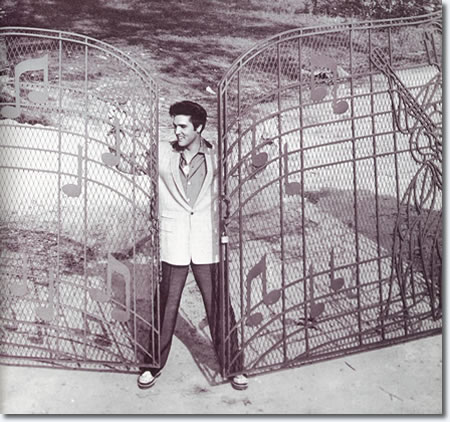 Elvis at the Graceland Gates 1957