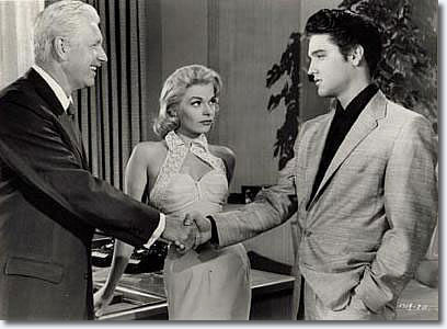 William Hart and Elvis shake, but sexy Jennifer Holden is the one who looks like she really means business in 'Jailhouse Rock'.