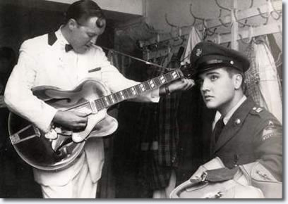 Bill Haley and Elvis Presley October 23, 1958