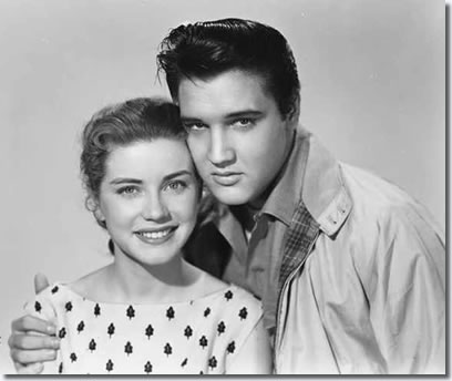 Dolores Hart and Elvis Presley
