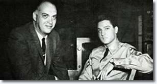 Thorne Nogar and Elvis on the GI Blues Set