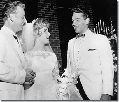 Elvis Presley Red West's Wedding to Elvis' Secretary Pat Boyd - July 1, 1961