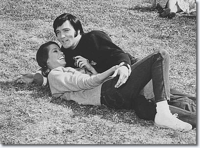 Elvis Presley and Mary Tyler Moore during the filming of Change of Habit