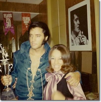 Elvis Presley with fan Yanick Gomez - August 22, 1970