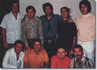 Elvis Presley and the band - Studio B, Nashville, June 1970
