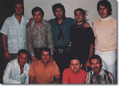 Elvis Presley and the band - Studio B, Nashville, June 1970