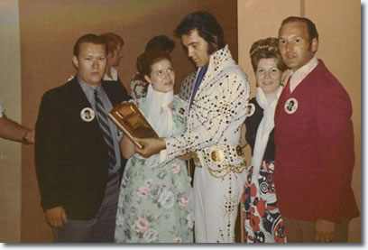 The Original Members of the King's Court with Elvis August 31, 1973