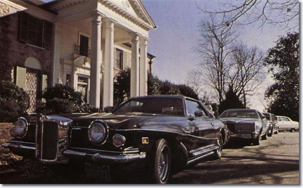 Elvis' 1973 Stutz Blackhawk III parked at Graceland