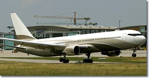 Russia's richest man Roman Abramovich - Boeing 767-33A
