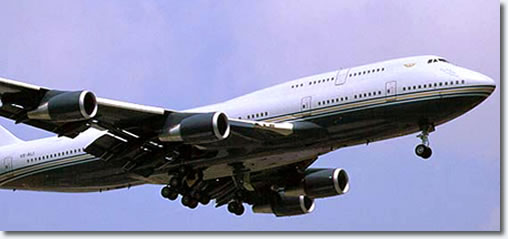 The Boeing 747-400 is the Sultan of Brunei's largest aircraft.