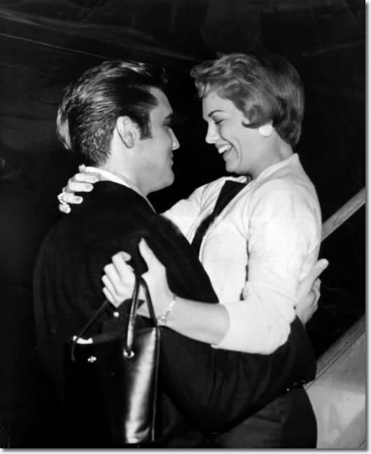 Elvis Presley and Anita Wood - September 13, 1957, Memphis Municipal Airport. Elvis picked up Anita who arrived from Hollywood on an American Airline's flight.
