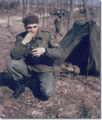Elvis in the US Army - In the feild