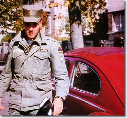 Elvis in the US Army - with his VW