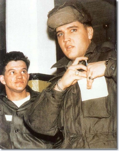 Elvis in the US Army - A surprise shot