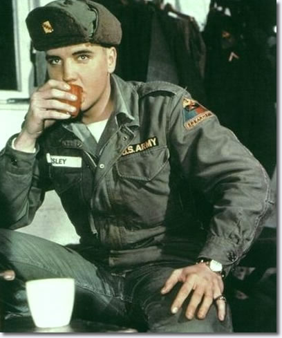 Elvis in the US Army - Posed
