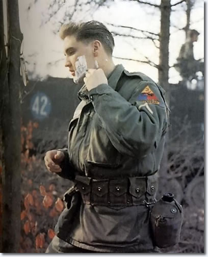 Elvis in the US Army - Shaving