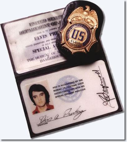 Elvis Presleys Bureau of Narcotic & Dangerous Drugs ID