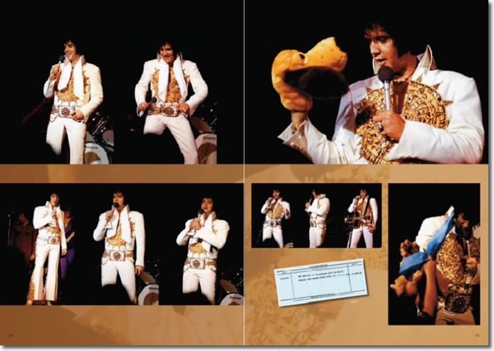 Crystal clear and full of fresh colours – rare shots of Elvis wearing the Sundial Suit 1974