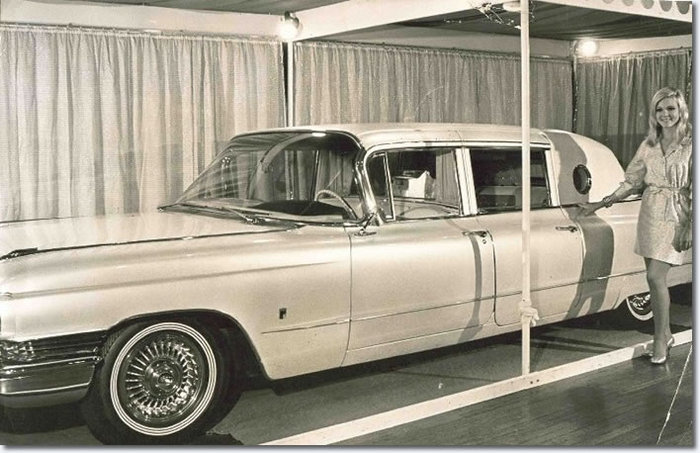 Elvis' Gold Cadillac - 1960 Series 75 Fleetwood Limousine on display in Australia