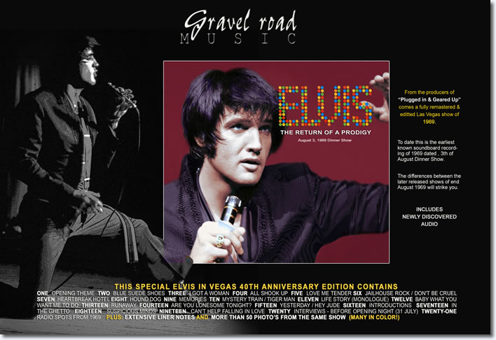 Elvis: The Return Of A Prodigy - The special 40th anniversary 'Elvis Live In Las Vegas '69' Edition