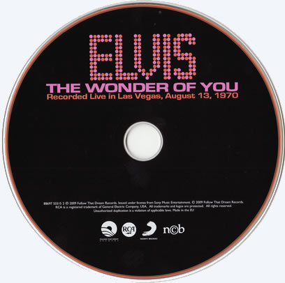 The Wonder of You FTD CD Disc