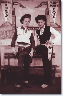Gene Smith and Elvis Presley 1953
