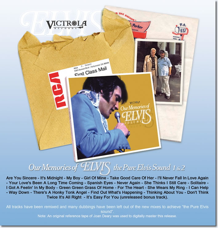 Our Memories Of Elvis Vol. 1 & 2 CD : The Pure Elvis Sound