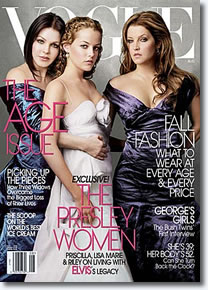Lisa Marie Presley, Danielle Keough and Priscilla Presley
