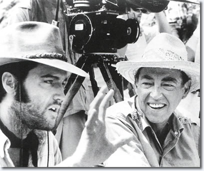 Elvis Presley and Charro! directer and producer Charles Marquis Warren - From the book, Elvis Presley as The One Called Charro!