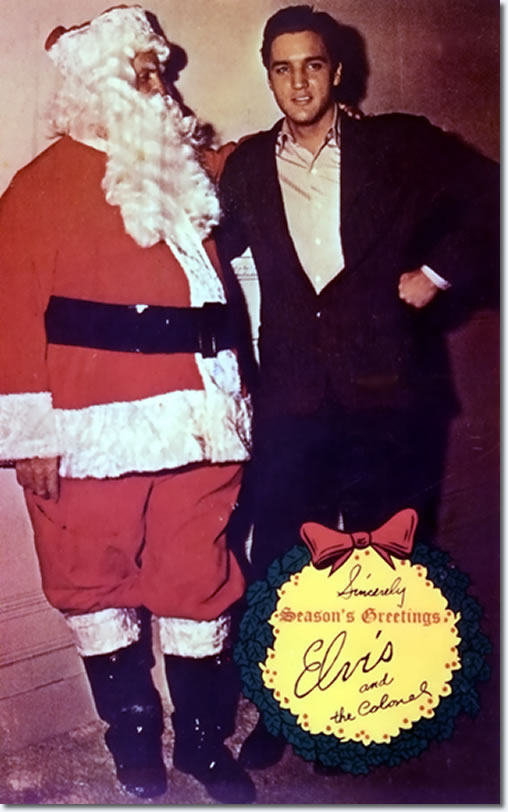 Colonel (Santa) Parker and Elvis Presley.