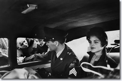 Elvis and Priscilla on the day Elvis left Germany