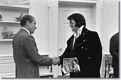 President Richard Nixon and Elvis Presley in The Oval Office White House - December 21, 1970