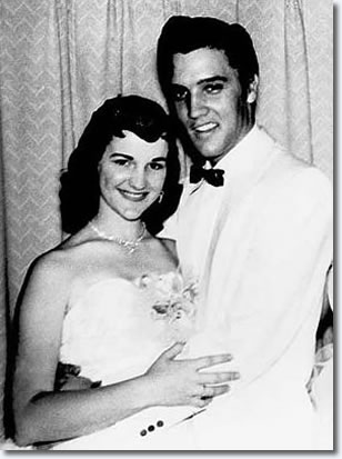 Dixie Locke and Elvis Presley 1955
