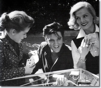 Dolores Hart, Elvis Presley and Lizabeth Scott