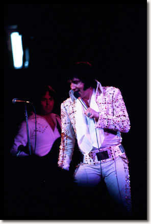 Duke Bardwell and Elvis Presley Tulsa, 1974