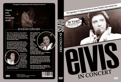 Elvis In Concert DVD - 30 Years Anniversary Edition