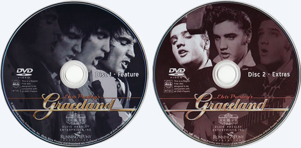 Elvis Presley's Disc 1 and 2 - Graceland DVD - Elvis Presley - His Home, His Story