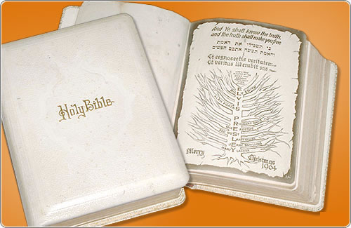 The bible that was given to Elvis by members of the Memphis Mafia for Christmas in 1964.