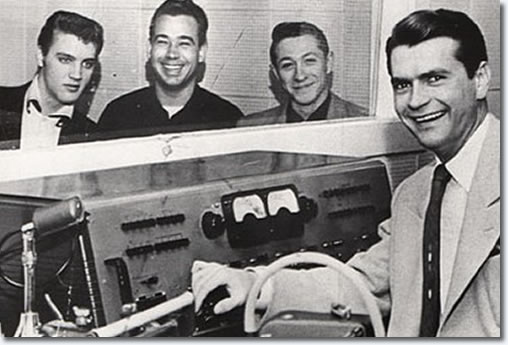 Elvis Presley, Bill Black, Scotty Moore and Sam Phillips - Sun Records 1954
