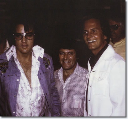 Elvis Presley, Charlie Hodge and Pat Boone