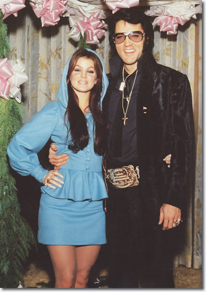 Priscilla and Elvis Presley - George Kliein's Wedding - December 5, 1970