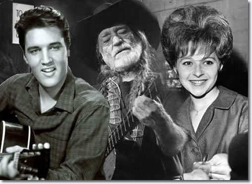 Elvis Presley, Willie Nelson and Brenda Lee