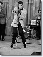 Elvis Presley performing 'Heartbreak Hotel' in June 1956.