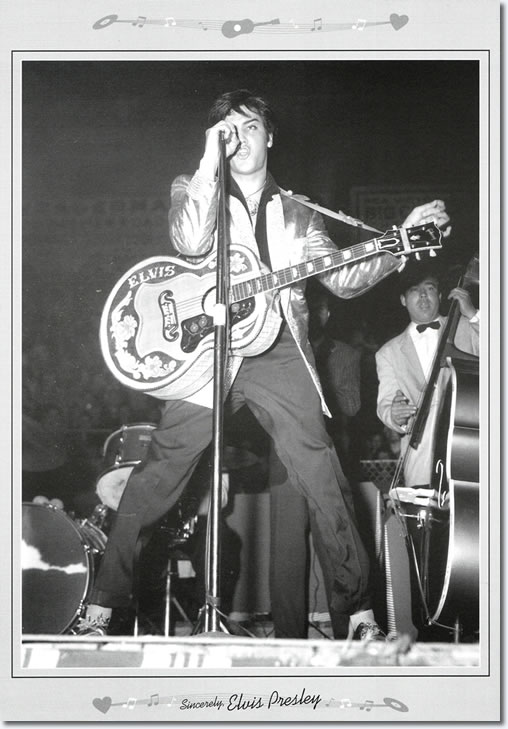 Elvis Presley on stage - Canada 1957
