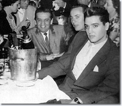 Freddy Bienstock (left) with Elvis during his visit in Paris, 1959
