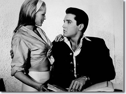 Elvis Presley and Ursula Andress on the set of 'Fun in Acapulco', Paramount, 1963