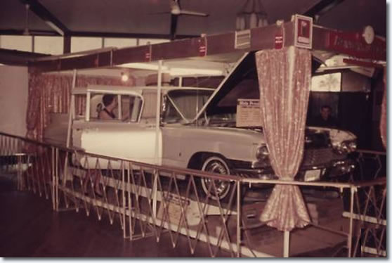 Elvis' Gold Cadillac on display at the Bundaberg Civic Center, Bundaberg, Qld, Australia, 1968